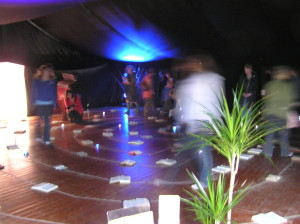 'Prayerzone' Bible Labyrinth. Church Without Walls Gathering. Ingleston. 2005